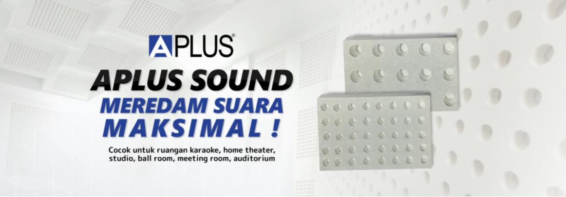 aplus sound gypsum peredam suara ruangan